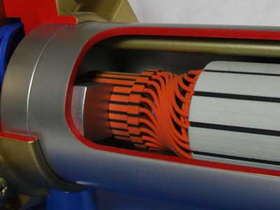 Areas of the Electric Motor 3D Printed in Full Colour